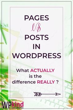 If you are a beginner with WordPress, the difference between post and pages can be confusing. In this tutorial, I will give you a simple rundown of the differences and tips on when to use each kind. #wordpresstutorial #learnwordpress #wordpresstips #wordpressforbeginners