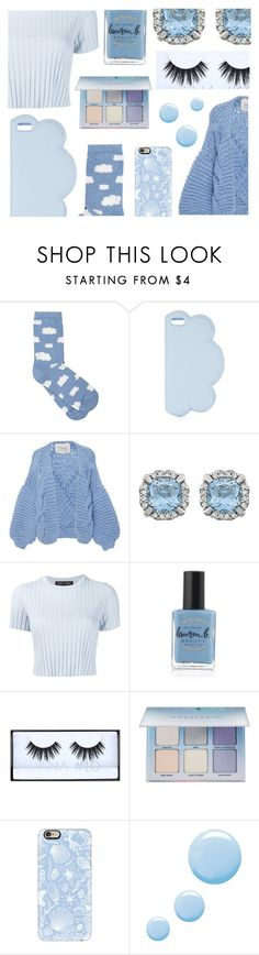 """""""☁ floating with the clouds ☁"""" by spacemermalien ❤ liked on Polyvore featuring M&Co, STELLA McCARTNEY, I Love Mr. Mittens, Proenza Schouler, Lauren B. Beauty, Huda Beauty, Anastasia Beverly Hills, Casetify, Topshop and soft"""