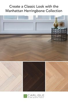 Traditional or contemporary, no matter your space - live the life of elegance on a Rift & Quartersawn white oak plank floor from Carlisle's Manhattan Herringbone Collection. #whiteoak #contemporarydesign #luxuryflooring Luxury Flooring, Oak Flooring, Wide Plank Flooring, Hardwood Floors, White Oak Floors, Carlisle, Custom Wood, Classic Looks, Herringbone
