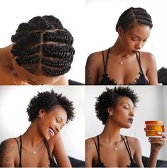 A flat twist out is ideal for short natural styles and can help achieve a defined curl and style Natural Hair Twist Out, Long Natural Hair, Natural Hair Styles, Natural Makeup, Protective Styles For Natural Hair Short, Short Hair Twist Out, Braids On Natural Hair, Natural Beauty, Natural Curls