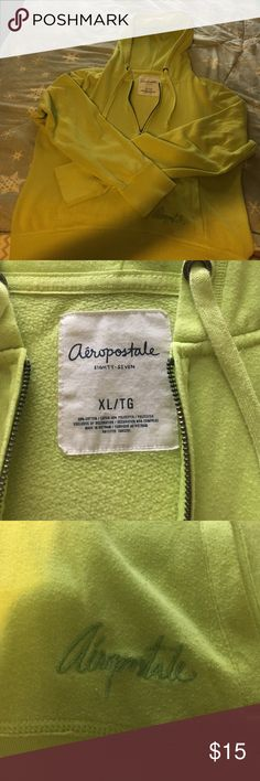 Aero hoodie Worn aero hoodie well taken care of. No holes or stains. Yellow green collor Aeropostale Sweaters