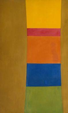 """Jack Bush, """"Colour Column on Suede"""" 1965"""