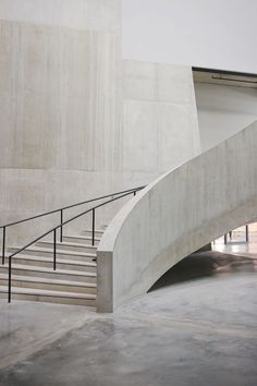 Concrete staircase in the new Switch House at Tate Modern by Herzog and de Meuron