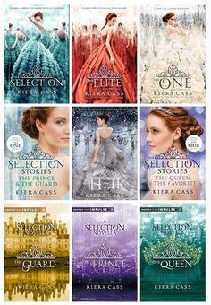 Vale la pena leer los libro de La Seleccion. Es una historia de amor basada en las elecciones de esposa para el principe Maxon (que por sierto te terminaras enamorando de el) porque es el hombre perfecto. Espero que te lo leas.