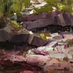 The Symbiosis by Tibor Nagy Oil ~ 8 x 8