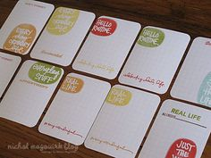 Love how Nichol's using the Studio AE stamps for #projectlife journaling cards.