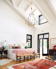 The boho-modern bedroom | Photo by Dane Tashima