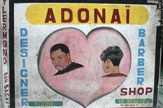 Haitian barber shop sign.