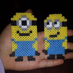 Minions perler beads by craftymamae