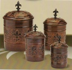 Tuscan Drake Design Turquoise Kitchen Canisters Will Take A Set Of These Too Under The