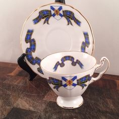 VintageFlicker on Etsy: Royal Adderley Cup and Saucer  Vintage Tea Set Royal Adderley Nova Scotia Tartan Teacup and Saucer  Replacement China  Antique China (19.99 USD)