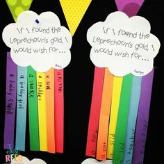 Grab this FREE rainbow craft template for St. Patricks day bulletin board Dental Health Lessons and Activities that Will Engage Your Students - Just Reed & Play March Crafts, St Patrick's Day Crafts, Preschool Crafts, Preschool Ideas, Spring Crafts, Holiday Crafts, Craft Ideas, Rainbow Bulletin Boards, Kindergarten Bulletin Boards