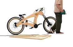 """DIY lowrider wooden beach cruiser bicycle by Jurgen Kuipers. """"constructed out of wooden. Velo Beach Cruiser, Cruiser Bicycle, Beach Cruisers, Wooden Bicycle, Wood Bike, Lowrider Bicycle, Push Bikes, Bike Seat, Cool Bicycles"""