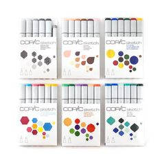 Kit Copic Sketch 6 Cores (vários modelos) Copic Sketch, Copics, Growing Up, Instagram, Terra, Primary Colors, Colour Combinations, World Of Color, Drawing Stuff