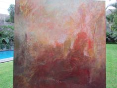 Tormenta de Ideas  tecnica mixta sobre lienzo  100 x 100 cms
