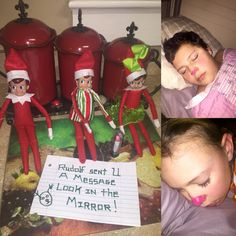 Elf on the shelf's Rudolph prank!