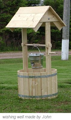 Wooden wishing well made by John