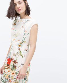 Imagem 2 de VESTIDO TUBO ESTAMPADO da Zara