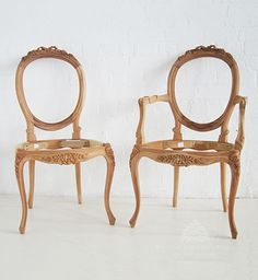 Traditional French Dining Chair Cab Legs / Ribbon Cab Leg Dining Chair / Dutch Connection