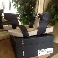 Steve Madden sandal Steve Madden Kaylaaa Black Leather Sandal.  Brand new w/box.  No trades Steve Madden Shoes Sandals