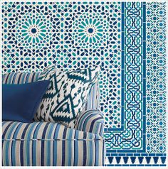 Schumacher's new Byzantium wallcovering collection.