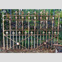 A+Victorian+wrought+iron+garden+gate