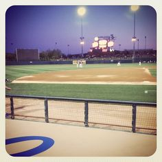Dodgers dugout view at Camelback Ranch in Glendale, Arizona (taken Mar 10, 2012)