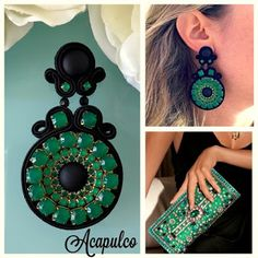 Veronique Creazioni Thread Jewellery, Fabric Jewelry, Girls Earrings, Diy Earrings, Handmade Beaded Jewelry, Earrings Handmade, Soutache Tutorial, Shibori, Gold Bridal Earrings