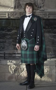 Classic Prince Charlie Kilt Outfit, with Luxury Clan Accessories by Scotweb Tartan Mill