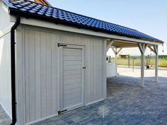 carport z pomieszczeniem Pergola Patio, Garage Doors, Outdoor Decor, House, Bulgaria, Home Decor, Patio Shade, Patio Roof, Houses