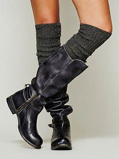Bed Stu Bonnor Tall Boot at Free People Clothing Boutique Look Fashion, Fashion Shoes, Fashion Outfits, Bootie Boots, Shoe Boots, Mode Shoes, Maila, Sheepskin Boots, Walking Boots