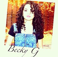 Becky G love the curly look:D.