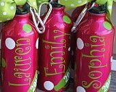 20oz Personalized Cheer Polka Dot Aluminum Water Bottle PLENTY IN STOCK