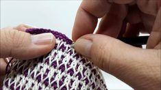 Tapestry Crochet Patterns, Crochet Motifs, Crochet Stitches Patterns, Tunisian Crochet, Knit Crochet, V Stitch Crochet, Crochet Crafts, Crochet Projects, Beginner Knitting Patterns