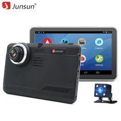 "[Visit to Buy] Junsun 7"" Android Car GPS Navigation 16GB with Rear view camera Car dvrs Vehicle gps Navigator Quad-core Bluetooth AVIN sat nav #Advertisement"