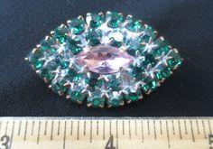 Exceptional Czech Rhinestone Jewel Glass Button Emerald Green w C Lavender | eBay