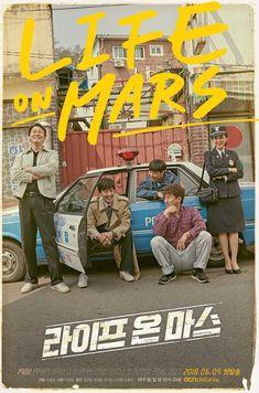 Life on Mars Poster Korean Drama Tv, Drama Korea, Fiction Movies, Drama Movies, Taiwan, Park Sung Woong, Top Drama, Tv Series Free, Korean Tv Series