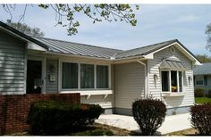 Home with Lester Buildings Eclipse Metal Roof. #eclipsemetalroof #home #reroof #residence #design #exterior #metalroof