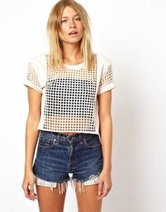ASOS Square T-Shirt with Lazer Cut