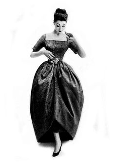 In Cristobal Balenciaga, 1956.