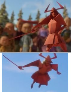 This is an Origami Samurai from Kubo And The Two stringsAS Kubo And The Two Strings, Puppet Making, Oragami, Nihon, Halloween 2018, Films, Movies, Cosplay Ideas, Blur