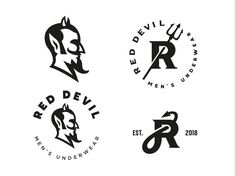 Red Devil designed by Shmart Studio. Connect with them on Dribbble; Lady Logo, Logo Luxury, Organic Logo, Logo Concept, Animal Logo, Business Card Design, Business Ideas, Cool Logo, Lettering Design