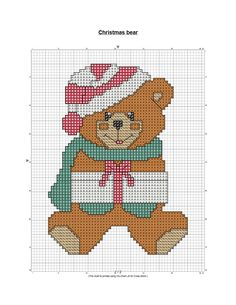 bear cross stitch patterns free | have more patterns available at BlogThis! Share to Twitter Share to ...