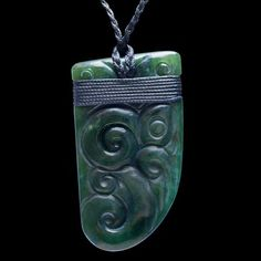 Jade Maori Manaia Necklace by Ewan Parker