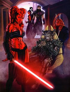 She was trained in the dark side and became a prominent Sith Lady in Krayt's One Sith Order. Star Wars Sith, Rpg Star Wars, Clone Wars, Images Star Wars, Star Wars Pictures, Star Wars Comics, Star Wars Concept Art, Star Wars Fan Art, Star Wars Legacy