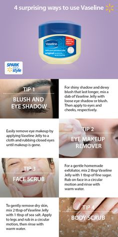 Do you know the versatile powers of Vaseline Jelly? Check out these quick tips for homemade moisturizers and treatments. Available at Walmart.
