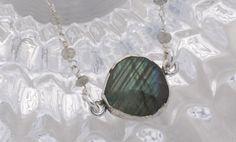 Labradorite Pulse Point Necklace by OnlyOneJewelryDesign on Etsy, $50.00