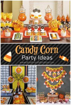 #Halloween party ideas 2014 #Candycorn