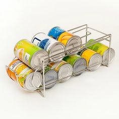 Maximise space in your grocery cupboard? Use Can Dispenser to stack can. Hold a max of can. Stainless steel can dispenser. Kitchen Cupboard Storage, Kitchen Cupboards, Kitchen Pantry, Can Dispenser, Life Space, Maximize Space, Keep It Cleaner, Kitchen Organization, Declutter