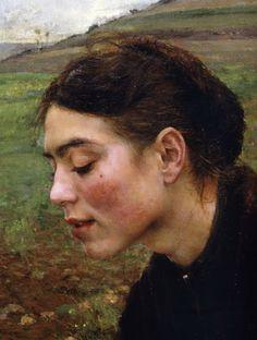Jules Bastien-Lepage (1848-1884)  Saison d'Octobre - detail